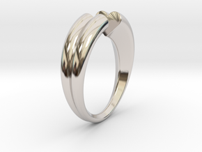 Two hearts meet each other in Rhodium Plated Brass