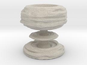 Mushroom cloud egg cup in Natural Sandstone
