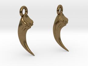 Talon Earings (pair) in Natural Bronze