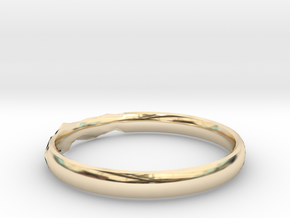 Shadow Ring US Size 8.5 in 14k Gold Plated Brass