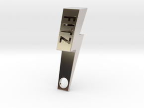 Personalize-able Lightning Bolt Bottle Opener in Rhodium Plated Brass