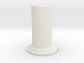 A2 Diffusor Cylinder in White Natural Versatile Plastic