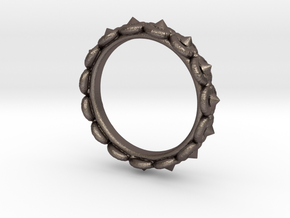 Circular Ring ø 15,3 0.602 Inch 48 C in Polished Bronzed Silver Steel