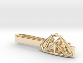 Cobra mk III Wireframe - Tie Bar in 14k Gold Plated Brass