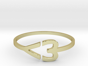 I heart Ring in 18k Gold Plated: 7.5 / 55.5