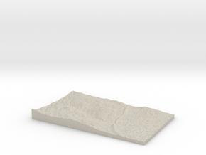 Model of Mount Morrison Heliport in Natural Sandstone