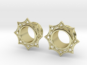 Lotus Eyelets in 18K Gold Plated