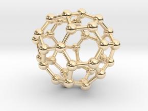 0038 Fullerene c36-10 c2 in 14K Yellow Gold