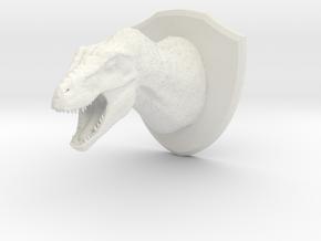 Tyrannosaur Head (MEST 2015) in White Natural Versatile Plastic