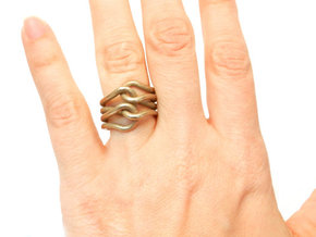 Knit Ring in Stainless Steel
