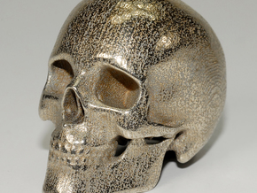 human skull - 5 cm in Stainless Steel