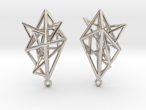 Urban Complexity Earrings in Rhodium Plated Brass