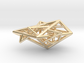 Angular Complexity Necklace in 14K Yellow Gold