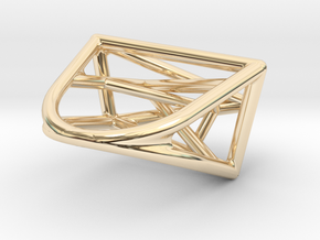 Urban Development Ring in 14k Gold Plated Brass