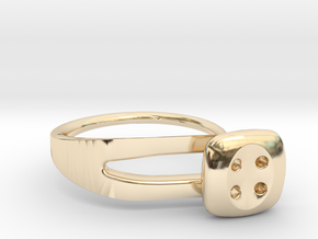 Button Ring Modern in 14K Yellow Gold