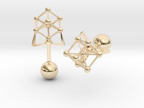Atomium Cufflinks in 14k Gold Plated Brass