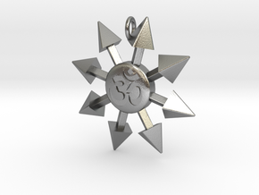 Chaos Star Pendant in Natural Silver