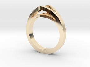 Split Shank 1 in 14k Gold Plated Brass