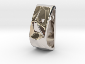 Life Charm in Rhodium Plated Brass