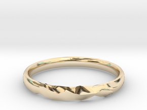 Shadow Ring US Size 6 UK Size M in 14k Gold Plated Brass