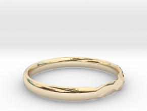 Shadow Ring US Size 8 UK Size Q in 14k Gold Plated Brass