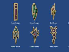 Unova Badges in White Strong & Flexible