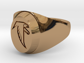 Falcon Class Ring in Polished Brass