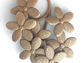Forget me Nots in Polished Bronzed Silver Steel