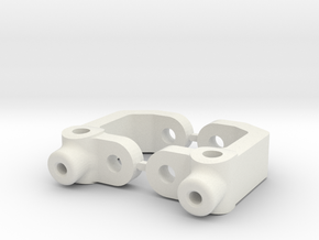 RC10B3 - 7.5 DEGRE - DIRT OVAL - CASTOR BLOCK in White Natural Versatile Plastic