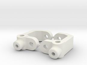 RC10B3 - 10.0 DEGREE - DIRT OVAL - CASTOR BLOCK in White Strong & Flexible