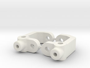 RC10B3 - 0 DEGREE - DIRT OVAL - CASTOR BLOCK in White Natural Versatile Plastic