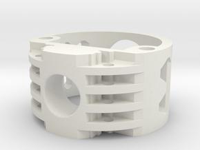 GCM111-02-V2 - Recharge Port 2.1mm in White Natural Versatile Plastic