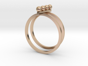 4 Pearl Ring in 14k Rose Gold Plated Brass