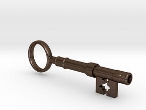 Sherlock Holmes - 221B Baker St. key in Polished Bronze Steel