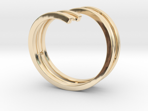 Bars & Wire Ring Size 7½ in 14k Gold Plated Brass