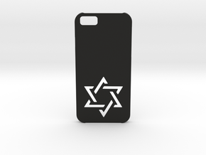 I-phone 6 Case: Israëli Star in Black Natural Versatile Plastic
