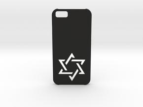 I-phone 6 Case: Israëli Star in Black Natural Versatile Plastic
