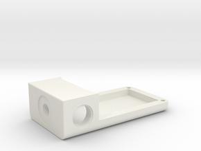 1550P BoxMod-Extension V1 in White Natural Versatile Plastic