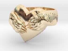 """Bear hug"" Ring in 14K Yellow Gold: 11.5 / 65.25"