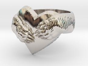 """Bear hug"" Ring in Rhodium Plated Brass: 11.5 / 65.25"