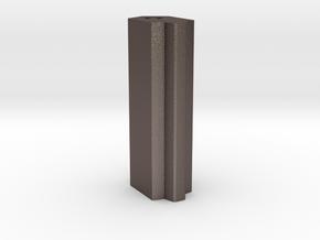 Grtip01 in Polished Bronzed Silver Steel