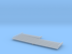 Warehouse Gutters in HO Scale in Smooth Fine Detail Plastic