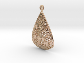 PA Pendant Ef002Se84bU23H30a07 in 14k Rose Gold Plated Brass