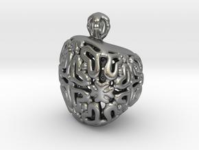 PA Pendant V21 H11x15x13SE84 in Natural Silver