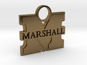 Marshall University Charm in Polished Bronze