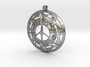 Peace Pendant in Natural Silver