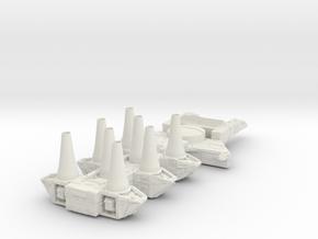 7 in White Natural Versatile Plastic