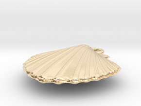 Scallop Earring in 14k Gold Plated Brass