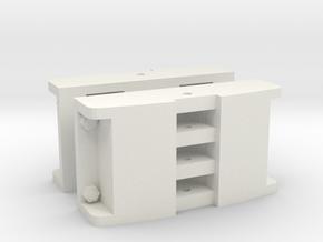 Gn15 Deutz style Loco / Lok couplings x 2 (1:24) in White Natural Versatile Plastic