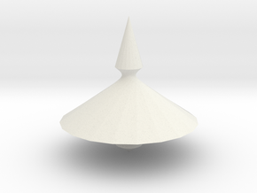 Spinning top PT v1 in White Natural Versatile Plastic